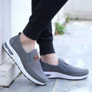 Mens Fashion Old Beijing Cloth Shoes Casual Shoes Breathable Mesh Walking Flats