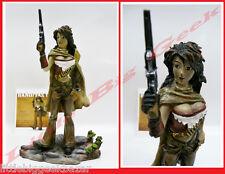 GUERRIERE Banditas Statue Remi Bostal Pin Up Sexy War Girls Resine BD # NEUF #