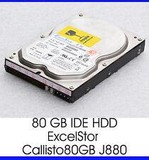 """80GB IDE Hard Drive HDD Excelstor callisto80gb J880 3,5 """" 8,89 CM 7200 U/M - F10"""