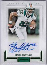 Brian Hartline 2012 Panini Playbook Auto Autograph Green Foil #40 (#1/1)