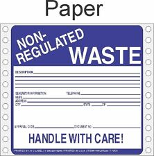 Non-Regulated Waste Paper Labels HWL255P (PACK OF 500)