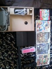 Nintendo Wii bundle Black Console (NTSC) with 5 games
