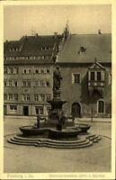 FREIBERG Sachsen ~1920/25 alte AK Brunnen-Denkmal mit Otto der Reiche Postkarte
