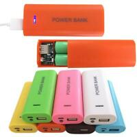 5600mAh 2X 18650 USB Power Bank Battery Charger Case DIY Box For iPhone Samsung