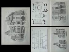 GENEVE, LES EAUX VIVES, MAIRIE - PLANCHES ARCHITECTURE 1910 - BOVY