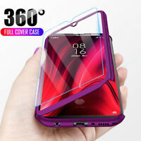 360° Full Protect Cover Case + Tempered Glass For Xiaomi Redmi 7A 7 Note 7 Pro
