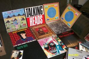 TALKING HEADS 8 LP, EP LOT w LITTLE CREATURES, SPEAKING IN TONGUES FEAR OF MUSIC