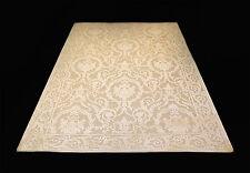 Teppich Beige 160x230 cm Exklusiv Kunst Seide Mäander Meander Carpet Rug versac