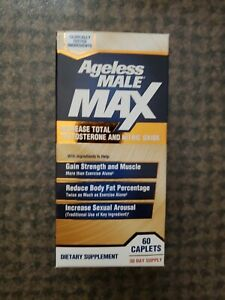 Ageless Male Max Testosterone Booster by New Vitality - 60 Caplets EXP: 2022