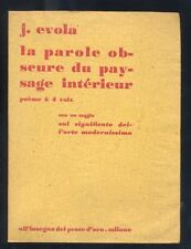 J.Evola,La parole obscure du paysage interieur,poème à 4 voix,1963 dadaismo