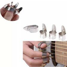 More details for 4 x steel guitar finger picks / plectrums acoustic electric banjo fingerpicks