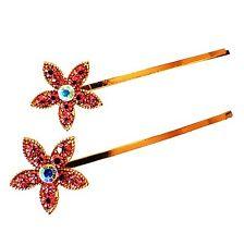 USA SELLER Bobby Pin Rhinestone Crystal Hairclip Hairpin Bridal Flower Pink A1