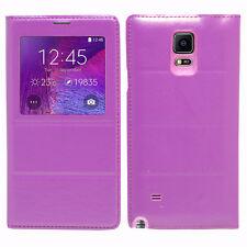 Housse Etui Coque Plastique View Case VIOLET Samsung Galaxy Note 4 SM-N910F