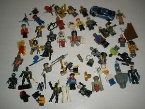 lot of Kree-O Mega Blocks Lego Minifigures Transformers Spider-Man Halo GI Joe