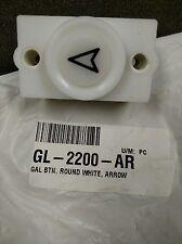GL-2200-AR GAL BTN, ROUND WHITE, ARROW QTY 10