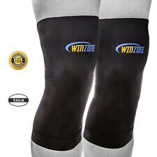 Winzone Recovery Knee Sleeve Copper Support Brace Infused Compression Size S-XXL