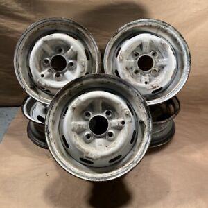 Original Sunbeam Alpine Early Style Slotted 13 x 4.5 Steel Wheels Set of 5 OEM