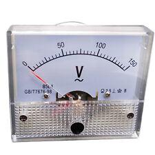 Us Stock Analog Voltmeter Panel Pointer Volt Voltage Meter Gauge 85l1 Ac 0 150v