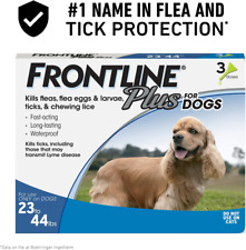 Frontline Plus Flea and Tick Treatment for Dogs (Medium Dog, 23-44 Pounds, 3 Dos