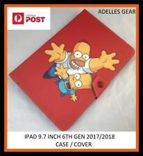 APPLE IPAD 9.7  6TH GEN 2017/2018 TABLET CASE /COVER BART HOMER SIMPSONS ORANGE