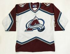 Vintage Starter NHL Colorado Avalanche Hockey Jersey S/M White Sewn