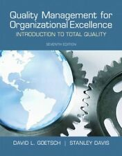 Quality Management for Organizational Excellence: Introduction to Total Quali…