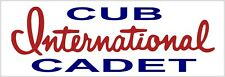 "International Harvester Cub Cadet New Metal Sign: 6"" x 18"" Long - Ships Free"