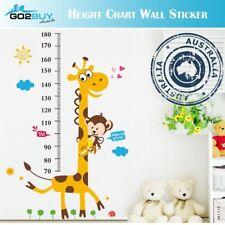Wall Stickers Removable Giraffe Monkey Height Kids Nursery Decal Growth Chart