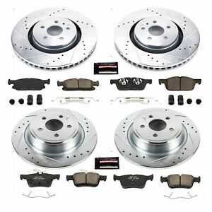 Power Stop K7231 Disc Brake Kit For 15-20 Ford Lincoln Edge Fusion MKX MKZ