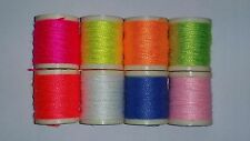 8 SPOOLS OF DANVILLE'S FL. NYLON WOOL THREAD COMBO PACK FOR FLY & JIG TYING