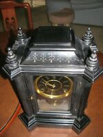 "INGRAHAM "" DOMINO "" A RARE ANTIQUE SHELF CLOCK CIRCA 1880's"