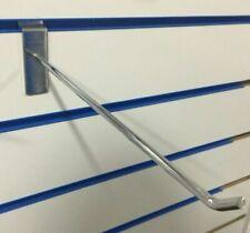 "103 x 9.5"" SLAT WALL SLATWALL CHROME ARM HOOKS RETAIL DISPLAY SHOP FITTINGS"