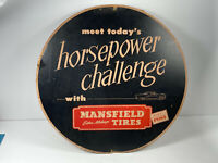 1950's Mansfield Tires Advertising Up-Rite Tire Insert NICE automotive racing