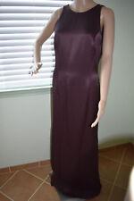 Chocolate Brown CARMEN MARC VALVO Sleeveless Evening Formal Gown 12