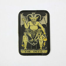 Biker Chopper Devil tarot card diablo mapa cuero genuino Patch Leather Patch