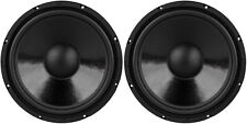"NEW (2) 12"" Woofer Speakers.Subwoofer Bass Driver.Home Audio 8 ohm.replacement."