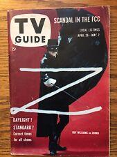 "New York Metro Edition 1958  ""ZORRO"" - GUY WILLIAMS -   TV Guide"