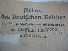 Übersichtskarte von Mitteleuropa 300000 Reichskarte D.M.Karte gefalten plano
