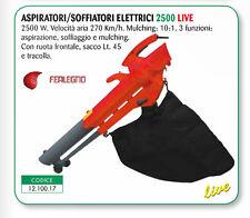 ASPIRATORE/SOFFIATORE ELETTRICO 2500W 3 FUNZIONI CON SACCO 45 LITRI LIVE 2500