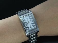 Authentic Bvlgari Bulgari RT45S Rettangolo Automatic White Dial Wrist Watch