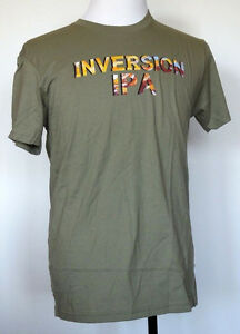 NEW NWOT Deschutes Brewery Inversion IPA Beer Olive Green T-Shirt Bend, Oregon M