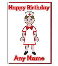 Personalised Medical Nurse Birthday Card