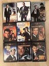 Bundle of 9 James Bond DVD's Skyfall, Casino Royale, Goldeneye, Moonraker + more