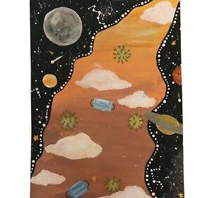 Tiktok Trippy Draws Universe Galaxy Cloud Painting