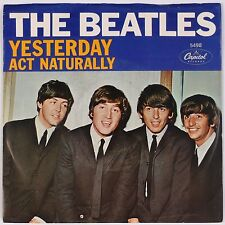 THE BEATLES: Yesterday / Act Naturally USA CAPITOL 5498 45 w/ PS Super