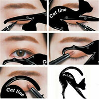 Cat Eye Line Eyeliner Stencil Liner Model Template Makeup Eyebrow Tool Kit