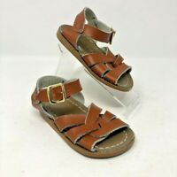 Salt Water Brown Leather Classic Sandals Shoes 4 Infant