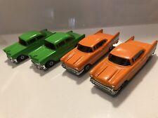 Rare Vintage Chevy Belair Diecast Universal Associated 1977 Hong Kong Lot Of 4