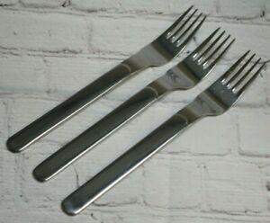 "3 Reed & Barton MIDDLEBURG- MARLBOROUGH Stainless 6 5/8"" Salad Forks"