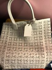 NWT TORY BURCH WHITE LEATHER CHAIN SHOULDER TOTE HANDBAG brand new! 1206368f4f